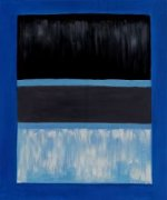 White and Black in Blue - Mark Rothko Oil Painting