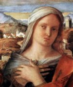 Madonna and Child with St John the Baptist and a Saint (detail) II - Giovanni Bellini Oil Painting