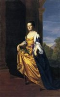 Mrs. Jeremiah Lee (Martha Swett) - Oil Painting Reproduction On Canvas