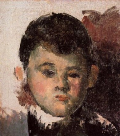Portrait of the Artist's Son (unfinished) - Paul Cezanne Oil Painting