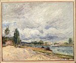 Banks of the Seine II - Alfred Sisley Oil Painting