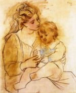 Mother and Child II - Pablo Picasso Oil Painting