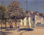 The Promenade at Argenteuil - Gustave Caillebotte Oil Painting