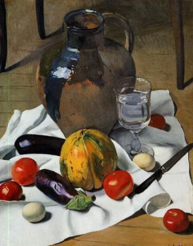 Still Life with Large Earthenware Jug - Felix Vallotton oil painting