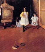 Ring Toss - William Merritt Chase Oil Painting Mary Cassatt Oil Painting