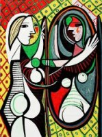 Girl Before a Mirror III - Pablo Picasso Oil Painting