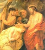 Christ and Mary Magdalene - Peter Paul Rubens Oil Painting