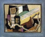 Partition, Bottle of Port, Guitar, Playing Cards - Pablo Picasso Oil Painting