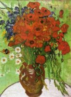 Red Poppies and Daisies - Vincent Van Gogh Oil Painting