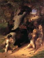 The March of Selenus - William Holbrook Beard Oil Painting