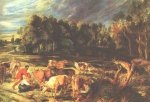 Landscape with Cows - Peter Paul Rubens Oil Painting