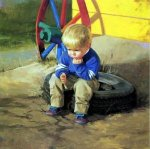 The Thinker - Donald Zolan Oil Painting