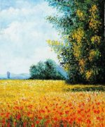 Champ d'avoine (Oat Field) - Claude Monet Oil Painting