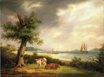 The Narrows, New York Bay - Thomas Birch Oil Painting