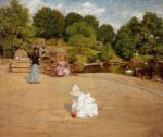 A Bit of the Terrace - William Merritt Chase Oil Painting