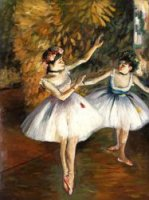 Two Dancers On Stage II - Edgar Degas Oil Painting