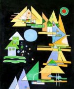 Spitzen in Bogen (Points in the Elbow) - Wassily Kandinsky Oil Painting