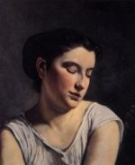Young Woman with Lowered Eyes - Oil Painting Reproduction On Canvas
