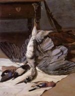 Still Life with Heron - Jean Frederic Bazille Oil Painting