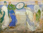 Symphony in Blue and Pink - James Abbott McNeill Whistler Oil Painting,