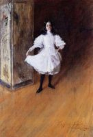 Portrait of the Artist's Daughter (Dorothy) - William Merritt Chase Oil Painting Mary Cassatt Oil Painting