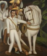 Agrarian Leader Zapata - Diego Rivera Oil Painting