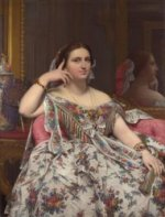 Mme. Moitessier, 1856 - Oil Painting Reproduction On Canvas