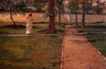 In Brooklyn Navy Yard - William Merritt Chase Oil Painting