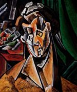 Woman with Pears - Pablo Picasso Oil Painting
