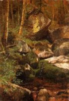 Forest Stream - Albert Bierstadt Oil Painting