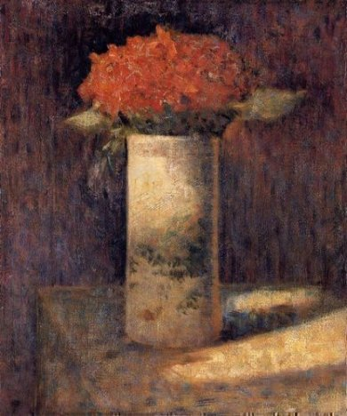 Boquet in a Vase - Georges Seurat Oil Painting,