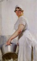 A Kitchen Maid - Oil Painting Reproduction On Canvas