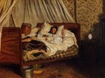 The Improvised Field Hospital - Jean Frederic Bazille Oil Painting