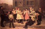 The Sidewalk Dance -John George Brown Oil Painting
