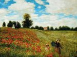 Poppy Field in Argenteuil III - Claude Monet Oil Painting