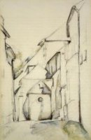 The Church of Saint-Pierre in Avon - Paul Cezanne Oil Painting