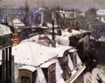Rooftops Under Snow - Gustave Caillebotte Oil Painting