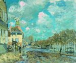 Flood at Port-Marly V - Alfred Sisley Oil Painting