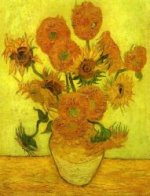 Still Life: Vase with Fourteen Sunflowers - Vincent Van Gogh Oil Painting