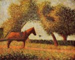 Horse - Georges Seurat Oil Painting