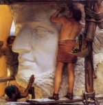 Sculptors in Ancient Rome - Sir Lawrence Alma-Tadema Oil Painting