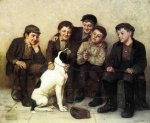 In Good Hands - John George Brown Oil Painting
