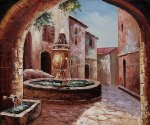 Greek Villa II - Oil Painting Reproduction On Canvas