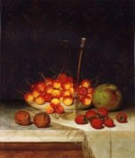 Fruit and Wine - William Mason Brown Oil Painting