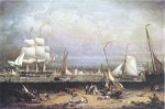 Liverpool Harbor - Robert Salmon Oil Painting