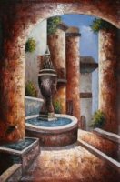Greek Villa I - Oil Painting Reproduction On Canvas