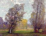 Clouds and Glow, Autumn, France - Robert Vonnoh Oil Painting
