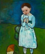 Child Holding a Dove - Pablo Picasso Oil Painting
