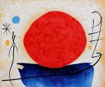 The Red Sun - Joan Miro Oil Painting