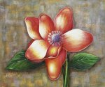 Bold Magnolia - Oil Painting Reproduction On Canvas